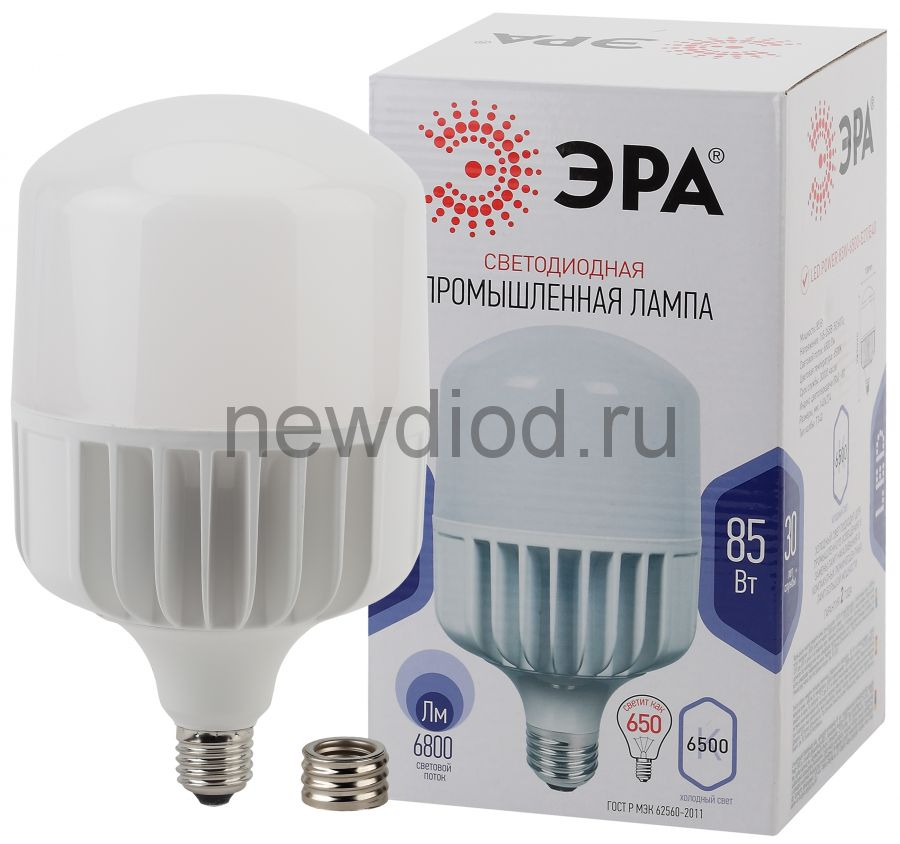 Лампы СВЕТОДИОДНЫЕ POWER LED POWER T140-85W-6500-E27/E40  ЭРА (диод, колокол, 85Вт, хол, E27/E40)