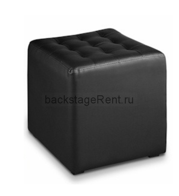 Аренда черного пуфа квадратного