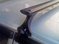 Багажник на крышу на ГАЗ 3110 (Волга), Delta, аэродинамические (крыловидные) дуги, черный цвет