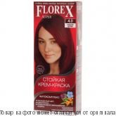 Краска для волос Florex-Super КЕРАТИН 4,0 Красное дерево, шт