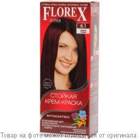 Краска для волос Florex-Super КЕРАТИН 6,1 Дикая слива, шт