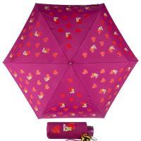 Зонт складной Moschino 8127-superminiX Hearts and bears Bordeaux