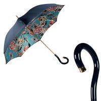 Зонт-трость Pasotti Blu Bouquet Plastica