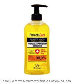 """Флоресан.Protect & Care.Жидкое мыло для рук Антибактериальный комплекс""""Лимон и Имбирь"""" 500мл, шт"""