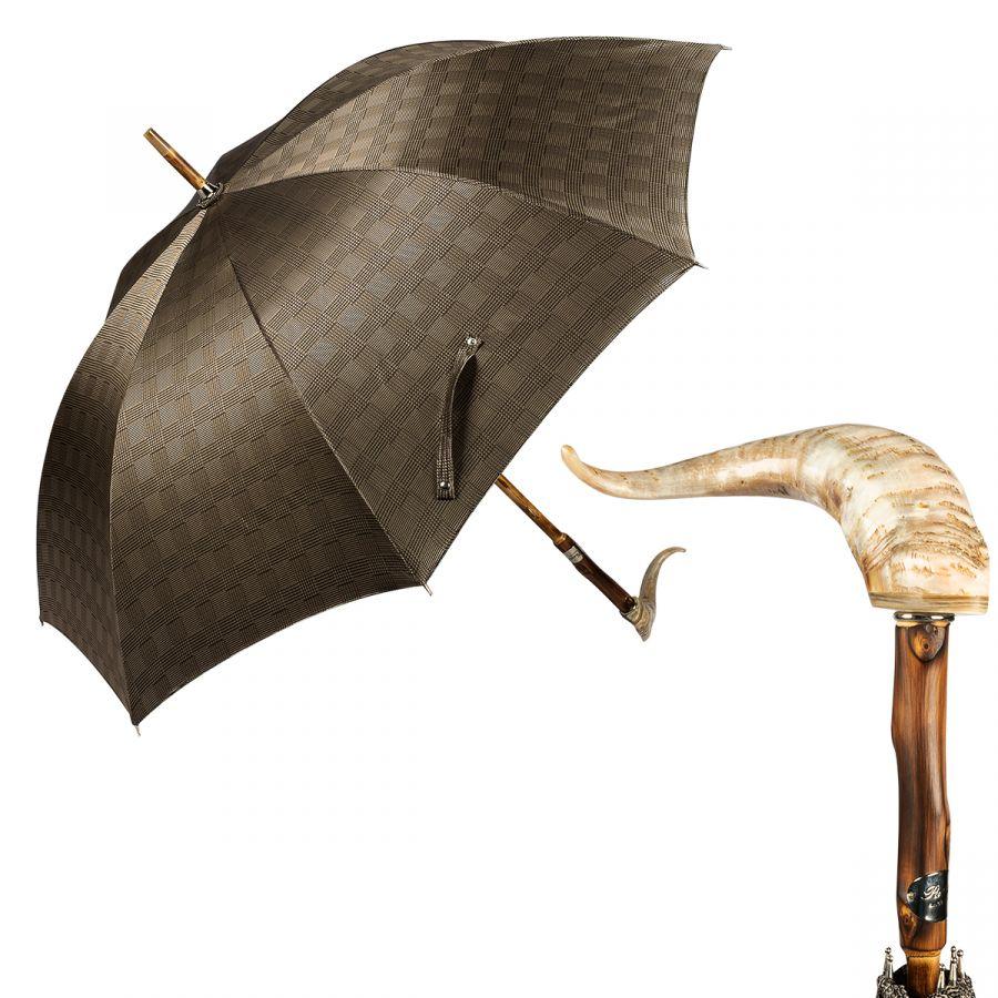 Зонт-трость Pasotti Mutton Horn Milford Beige