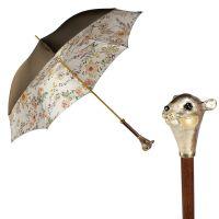 Зонт-трость Pasotti Oliva Campanula Scoiattolo Lux