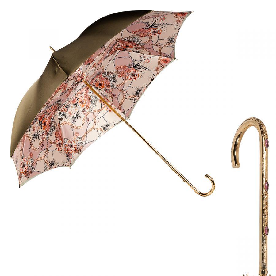 Зонт-трость Pasotti Oliva Jewels Penna Oro