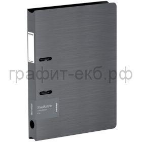 Папка А4 3.5см 2к.Berlingo Steel&Style серебристый металлик PPf_95102