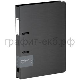 Папка А4 3.5см 2к.Berlingo Steel&Style черная PPf_95001