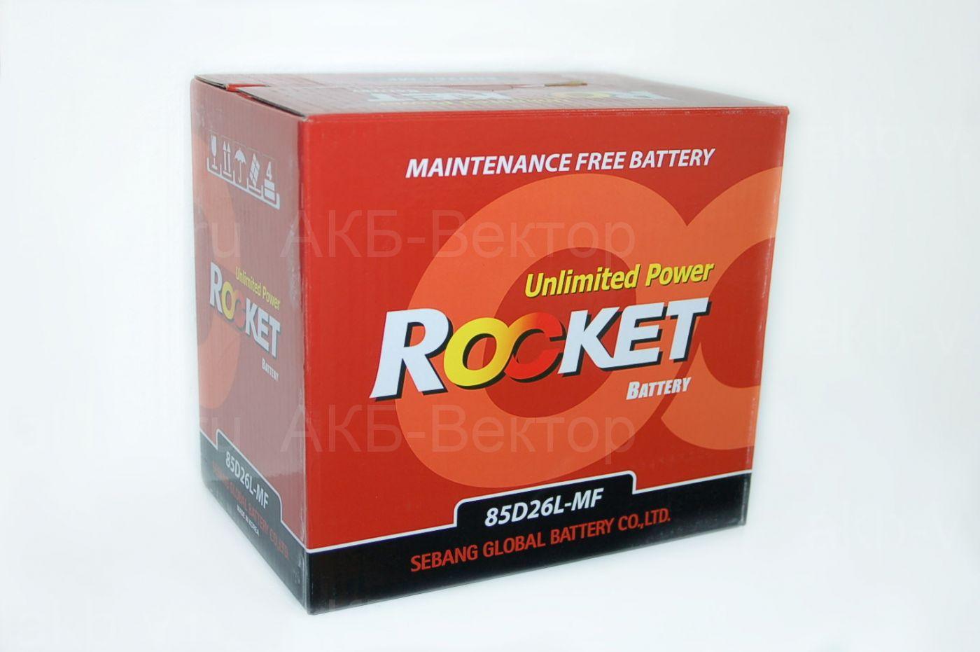 Rocket 80Ач 670А (85D26 (L  R)