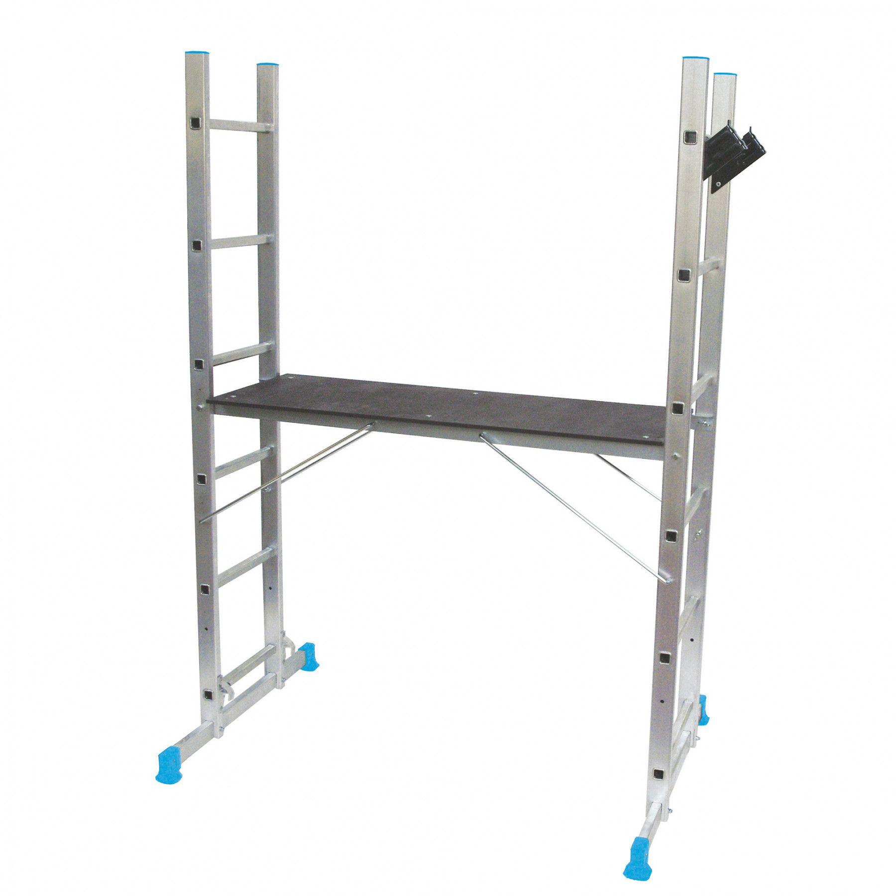 Лестница раскладная 3 в 1 MAC ALLISTER, 2 х 6 ступеней