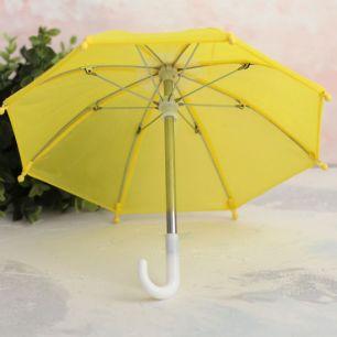 Зонтик для куклы - Желтый - 22 см.