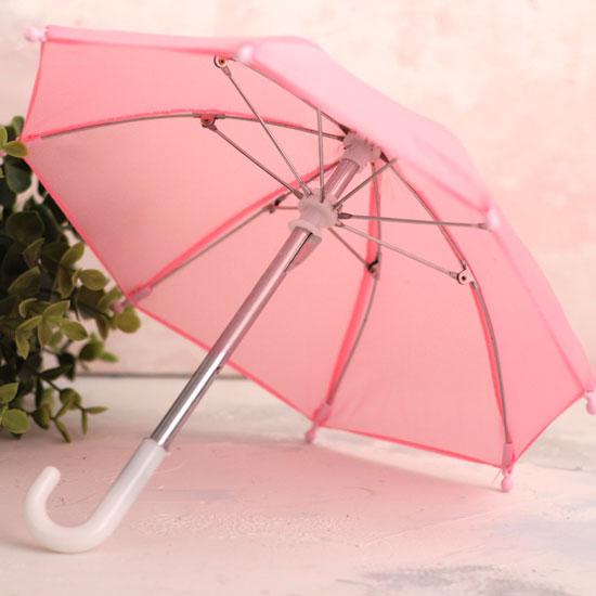 Зонтик для куклы - Розовый - 22 см.