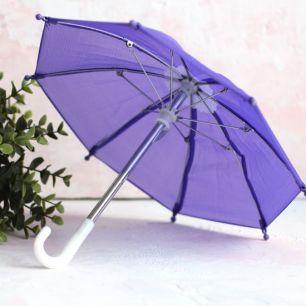 Зонтик для куклы - Фиолетовый - 22 см.