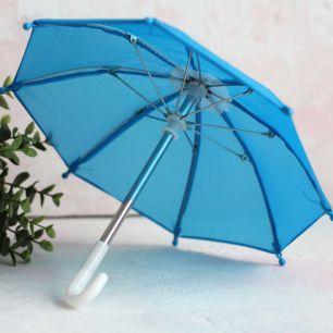 Зонтик для куклы - Голубой - 22 см.