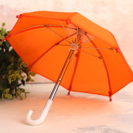 Зонтик для куклы - Оранжевый - 22 см.