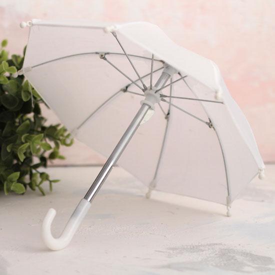 Зонтик для куклы - Белый - 22 см.