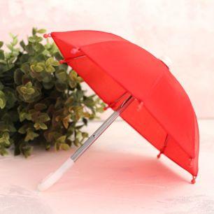 Зонтик для куклы - Красный - 22 см.