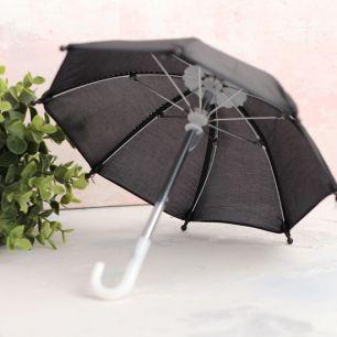 Зонтик для куклы - Черный - 22 см.