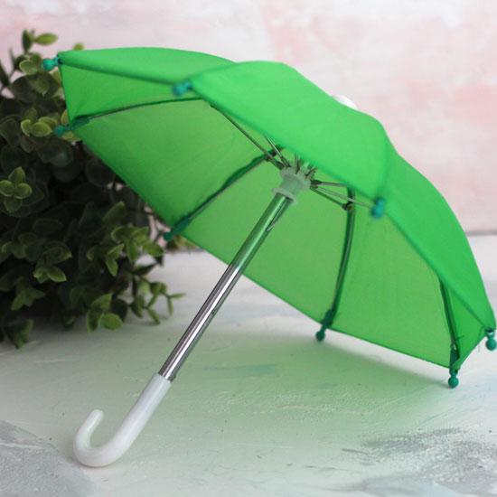 Зонтик для куклы - Зеленый - 22 см.