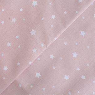 Хлопок Звёздочки на нежно-розовом 50х40