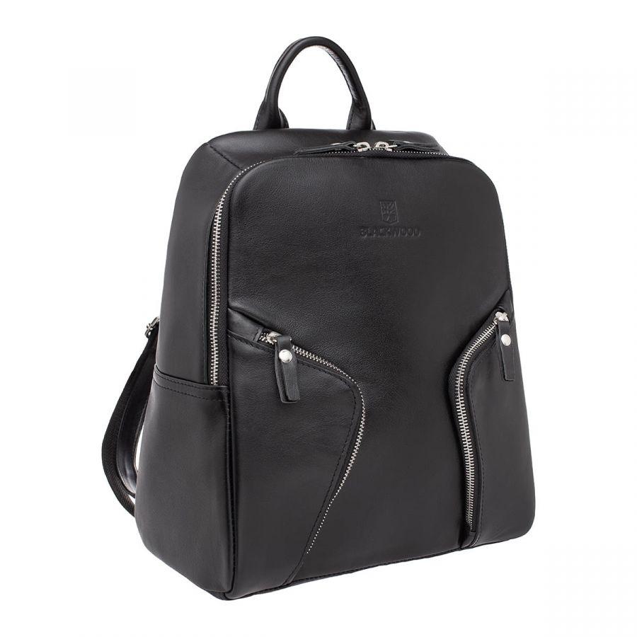 Женский кожаный рюкзак Blackwood Alesia Black