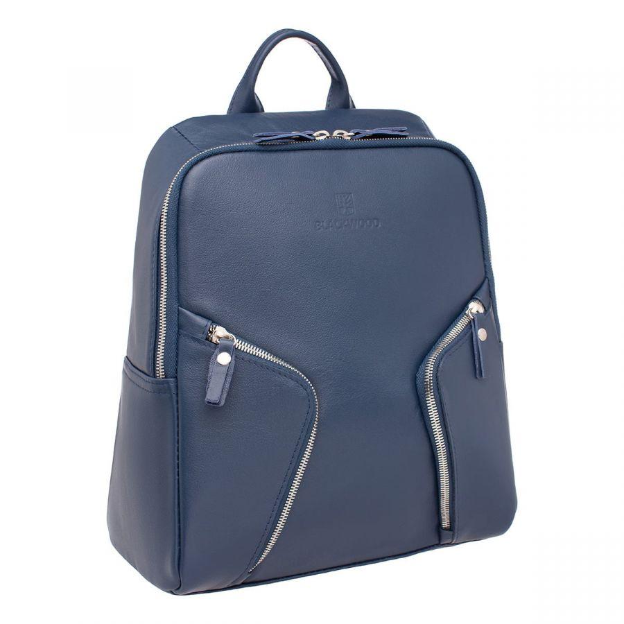 Женский кожаный рюкзак Blackwood Alesia Dark Blue