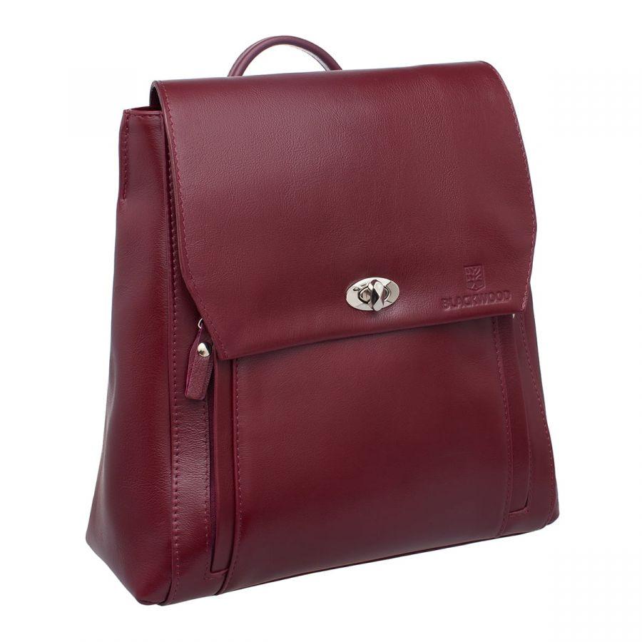Женский кожаный рюкзак Blackwood Fane Burgundy