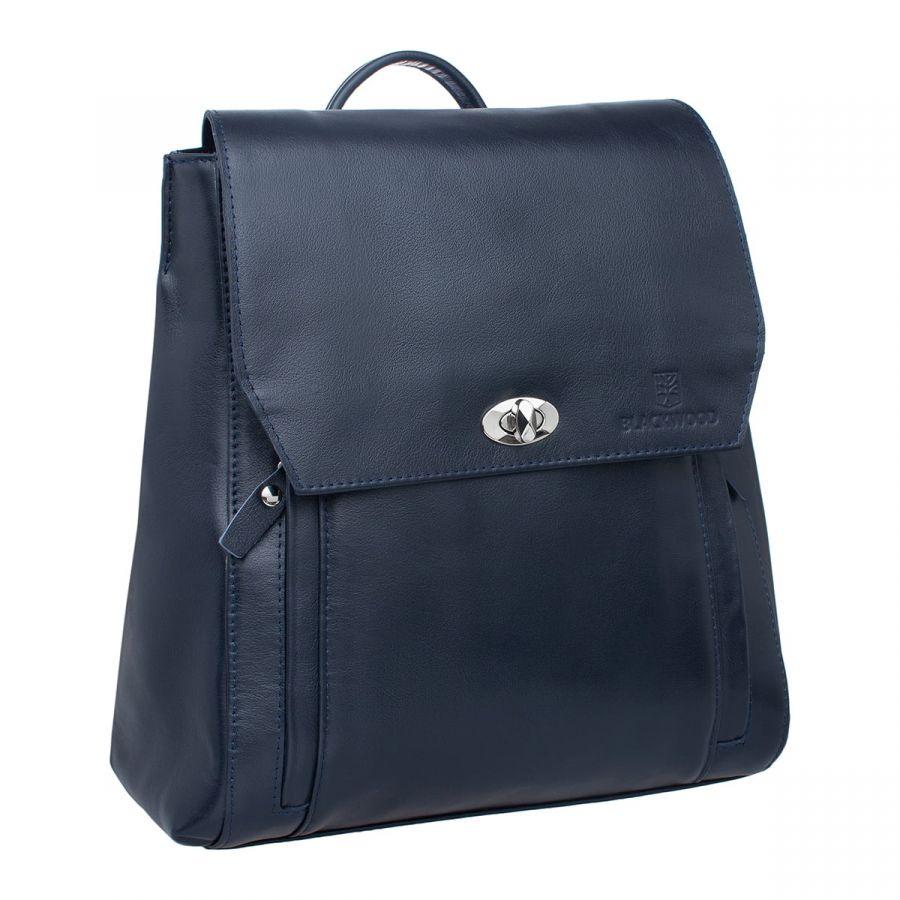 Женский кожаный рюкзак Blackwood Fane Dark Blue