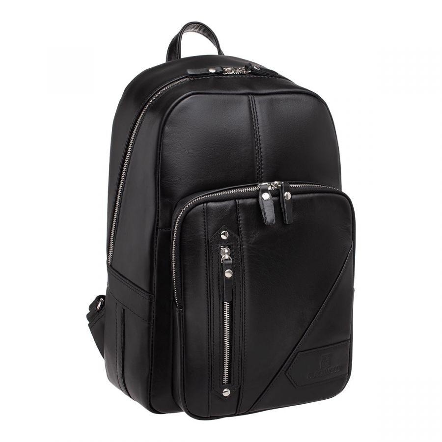 Мужской кожаный рюкзак Blackwood Linford Black