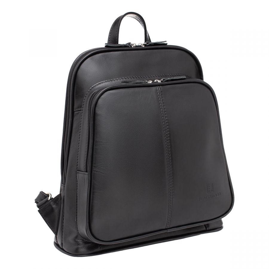 Женский кожаный рюкзак Blackwood Dairy Black