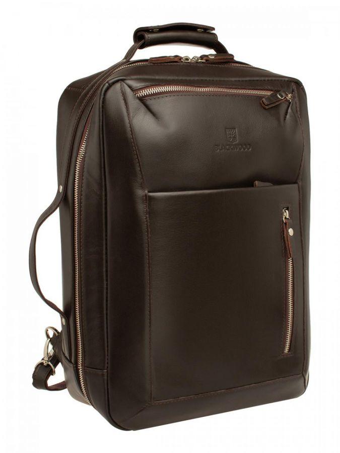 Мужской кожаный рюкзак Blackwood Fairway Brown