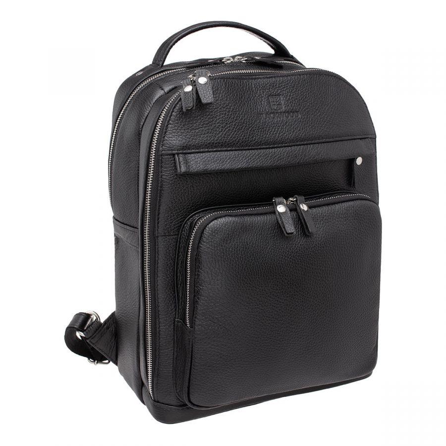 Мужской кожаный рюкзак Blackwood Garrard Black