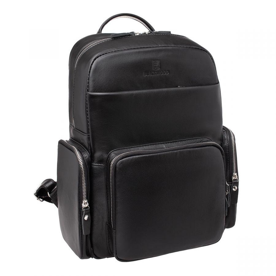 Мужской кожаный рюкзак Blackwood Barford Black