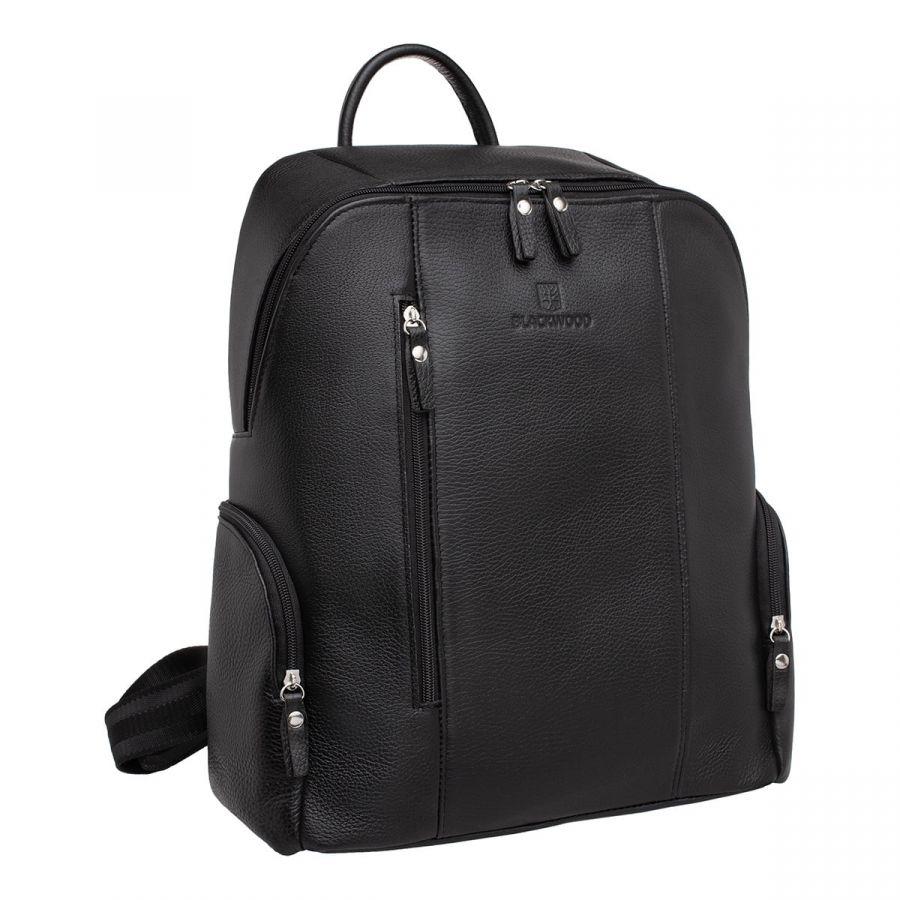 Мужской кожаный рюкзак Blackwood Divis Black