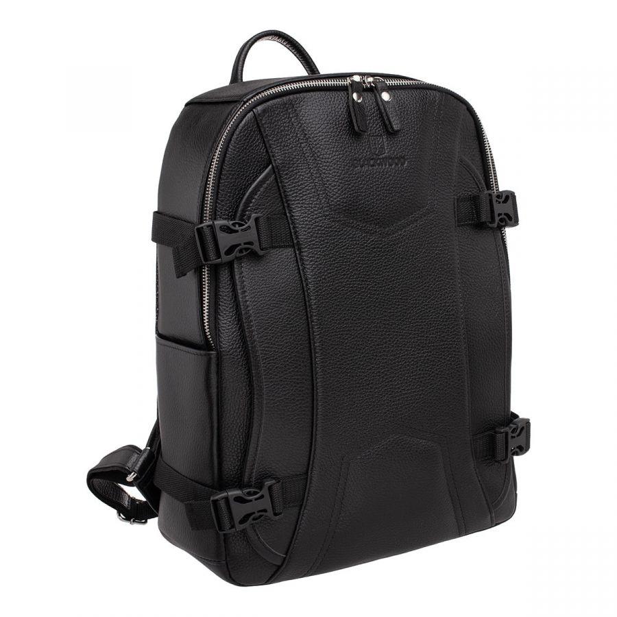 Мужской кожаный рюкзак Blackwood Carlos Black