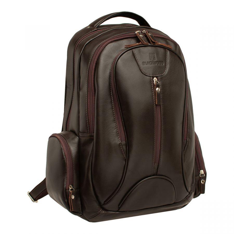 Мужской кожаный рюкзак Blackwood Malvern Brown