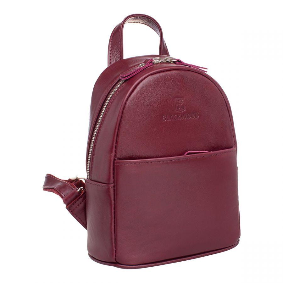 Женский кожаный рюкзак Blackwood Barlow Burgundy