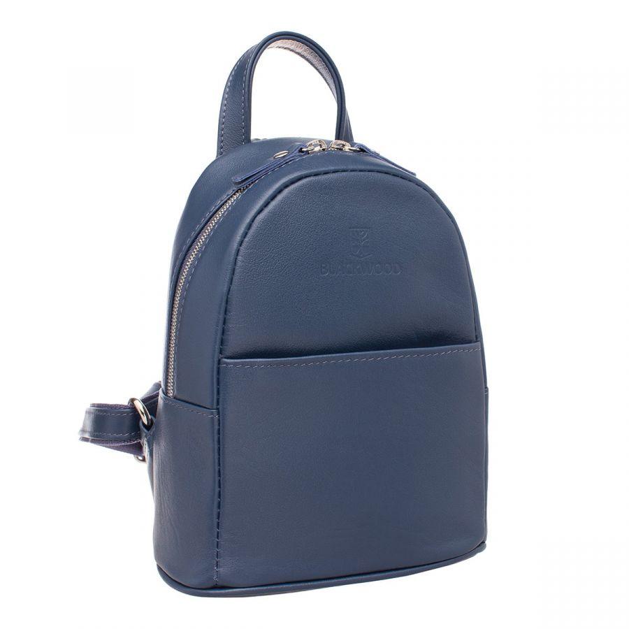 Женский кожаный рюкзак Blackwood Barlow Dark Blue