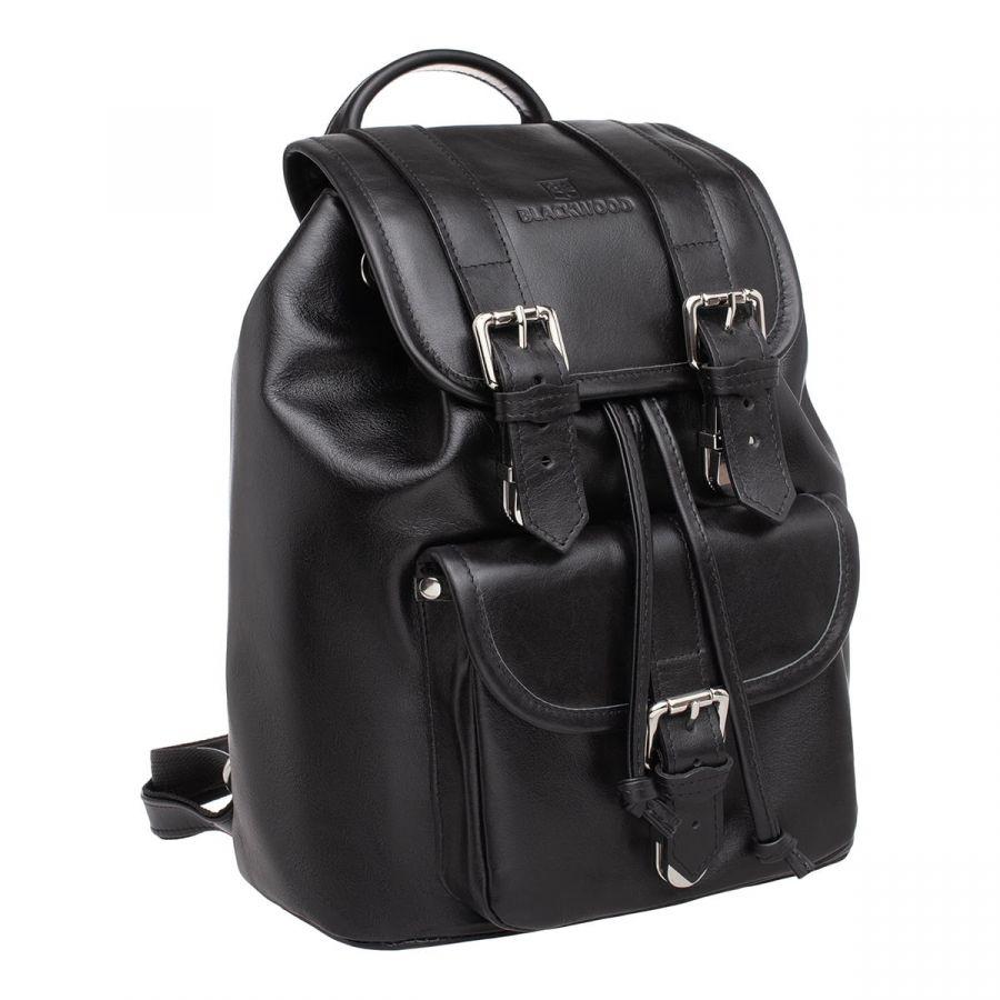 Женский кожаный рюкзак Blackwood Handa Black
