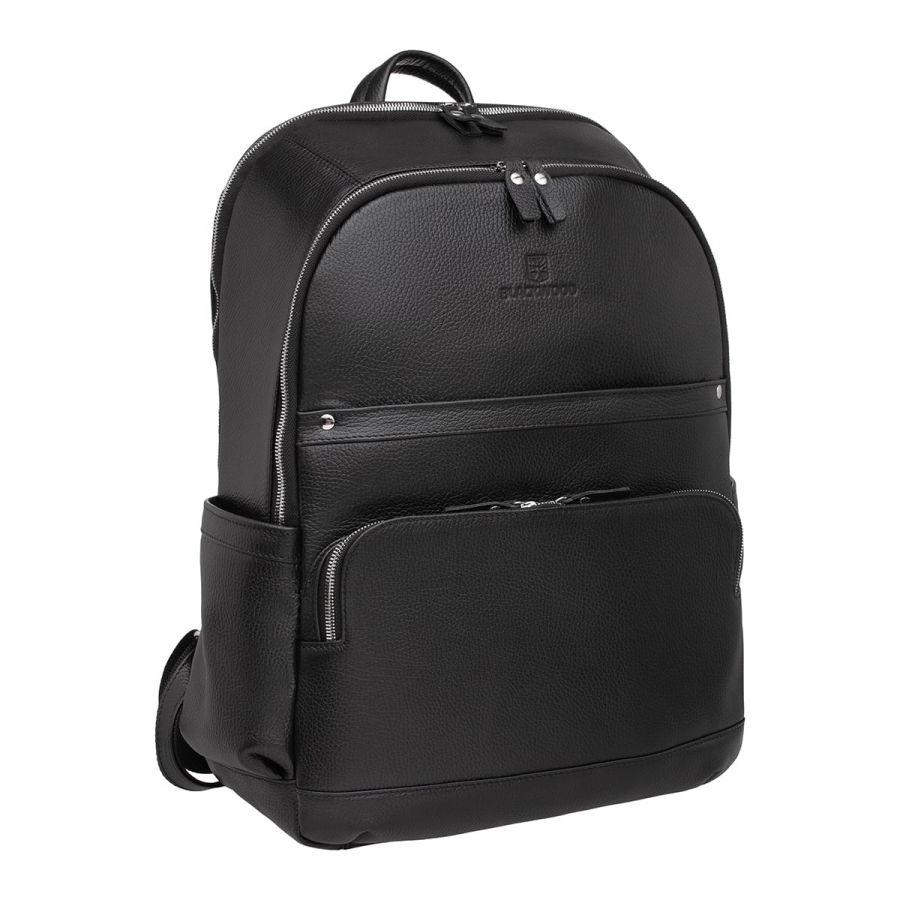 Мужской кожаный рюкзак Blackwood Dantrey Black