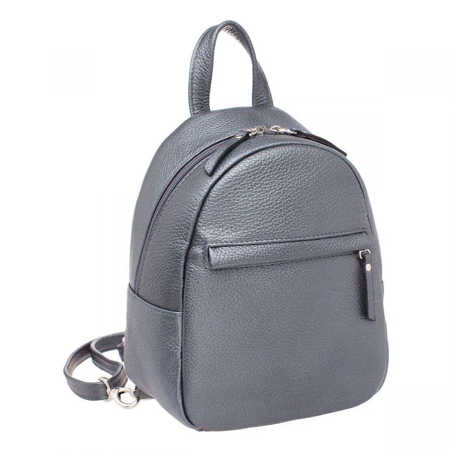Женский кожаный рюкзак Blackwood Canberra Silver Grey