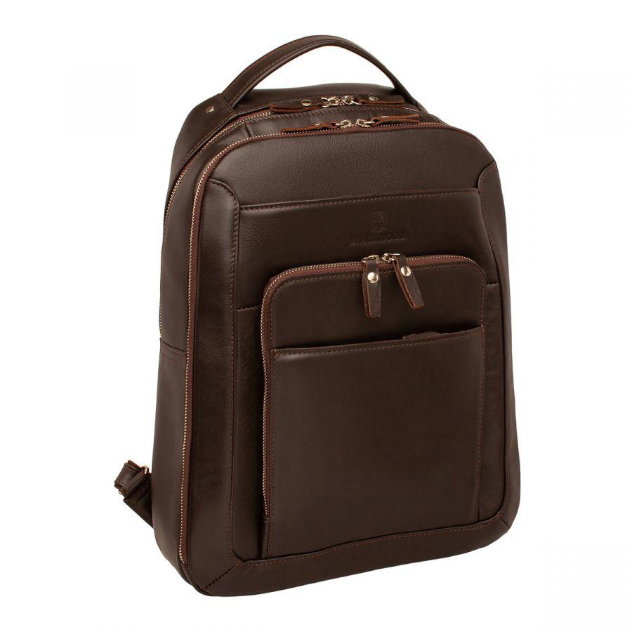 Мужской кожаный рюкзак Blackwood Gallon Brown