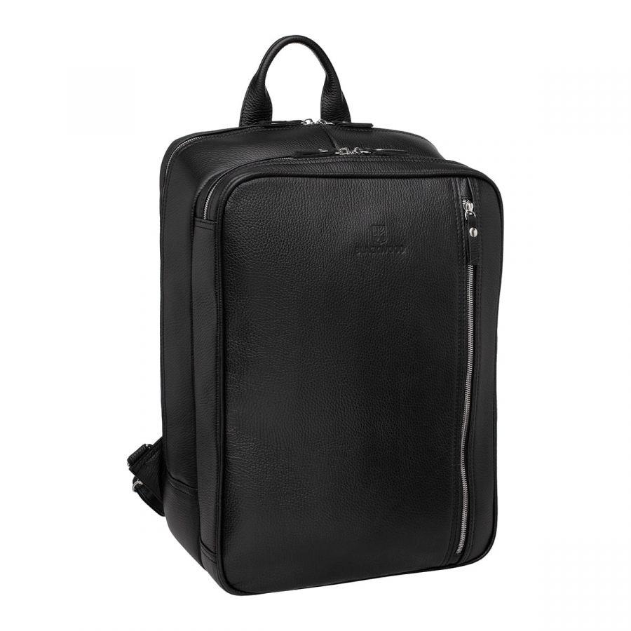 Мужской кожаный рюкзак Blackwood-трансформер Agat Black