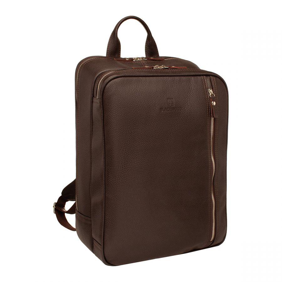 Мужской кожаный рюкзак Blackwood-трансформер Agat Brown
