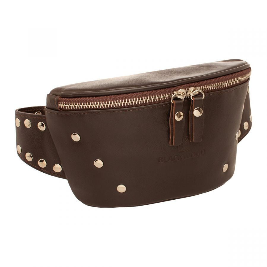 Женская кожаная поясная сумка Blackwood Adys Brown