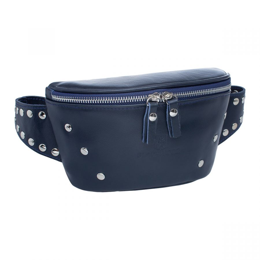 Женская кожаная поясная сумка Blackwood Adys Dark Blue