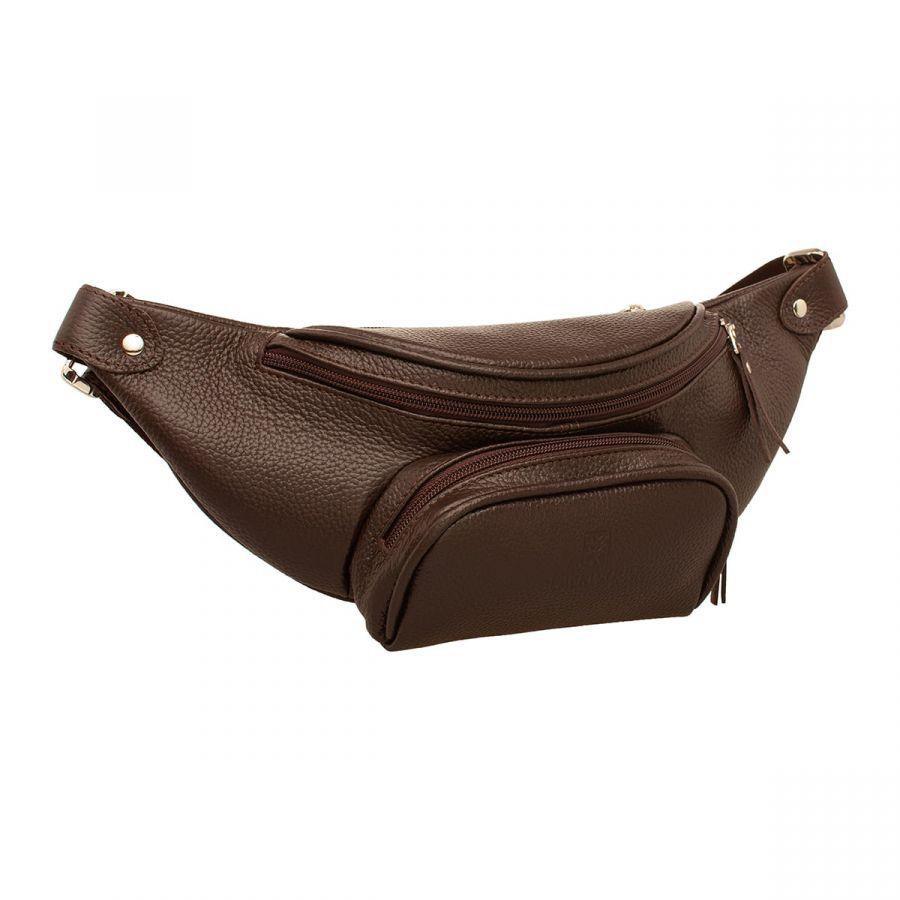 Женская кожаная поясная сумка Blackwood Daley Brown