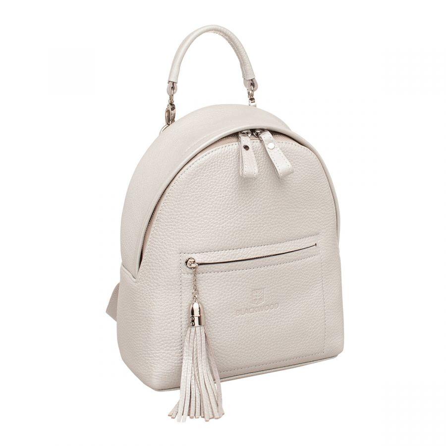 Женский кожаный рюкзак Blackwood Jessie Silver White