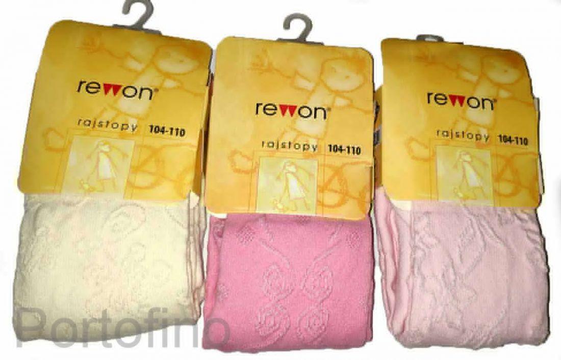 503-004G (104/110) Колготки для девочек жаккардовые Rewon